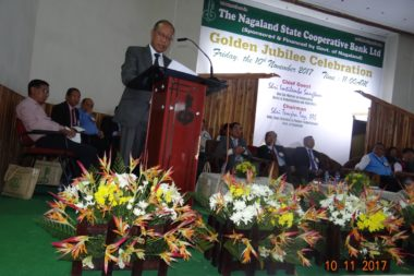 Managing Director of the Bank giving his speech (Golden Jubliee)